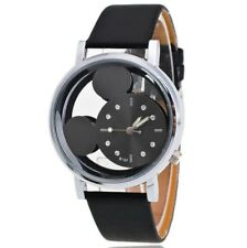 Disney Mickey Mouse Face Watch. Ladies Or Men's. Black  & Silver. BN