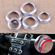 5x Car Dashboard Console Switch Button Ring Cover Fit For Land Rover Discovery 4