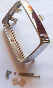 Chrome Square headlight surround ring for Honda cub C50 C70 C90 headlight rim