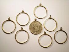 6 Brass U.S. Eisenhower Dollar Coin Holders Coin Bezels