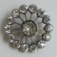 Bouton ancien - Strass - 26 mm - Rhinestone Paste Button
