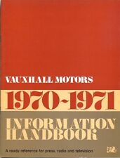 Vauxhall information handbook 1970-71 a ready reference for press tv et de radio