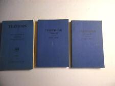 Television The Future ....Tech Dev, Vol II 1937, Volume III 1946, Volume IV 1947