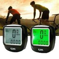 Wired LCD Digital Computer Bicycle Bike Backlight Speedometer Odometer Cycle_
