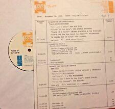 RADIO SHOW: CRYIN 11/12/86 STEVE ALAIMO, ROY ORBISON, EVERLY BROS, 4 SEASONS