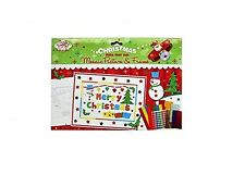 MAKE YOUR OWN CHRISTMAS MOSAIC PICTURE KIDS CRAFT FUN GIFT STICKERS CRAFT NEW