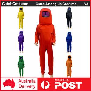 Kids Game Among Us Cosplay Costume Boys Girls Jumpsuit Book Week Fancy Dress