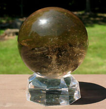Smoky Quartz Sphere / Crystal Ball w Veils