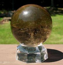 Smoky Quartz Sphere / Crystal Ball w Veils