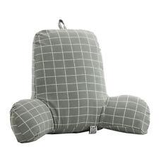 Soft Bedrest Bed Reading Pillow Husband Pillow Adults Kids Back Support Grid