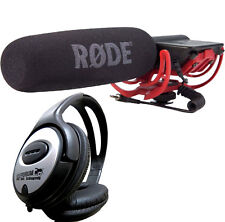 Rode VideoMic Rycote Microfono Direzionale + TAMBURI Cuffie