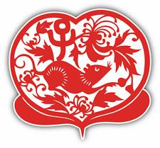"Rat Chinese Zodiac Sign Car Bumper Sticker Decal 5"" x 5"""