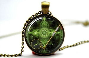 Steampunk Vintage Magnifying Glass - Photo Glass Dome Necklace Pendant