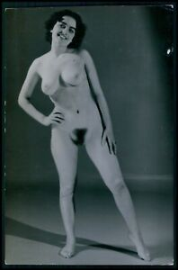 Danish Pinup pin up girl full nude woman original old 1950s gelatin silver photo