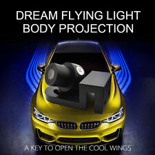 2pc Angel Wings LED Light Welcome Door Shadow Projector Truck SUV Car Lamp Blue