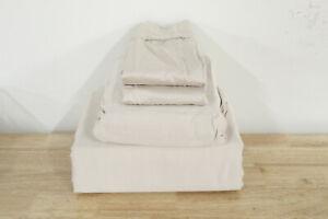 Sunham King Sheet Set Rest 450 TC Cotton Sateen Taupe A01024