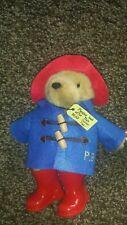 Original Retro Soft Toy Plush Teddy Paddington Bear Felt Coat Rubber Wellies New