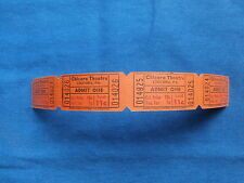Vintage 11 Cent Chicora Theatre Tickets (Strip of 4) Drive-In Movie/Cinema - PA