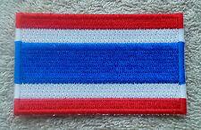 THAILAND FLAG PATCH Embroidered Badge Iron or Sew on 4.5cm x 6cm ราชอาณาจักรไทย