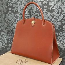 Rise-on Vintage HERMES Dalvy GM Porc Leather RED Handbag Satchel Purse #121