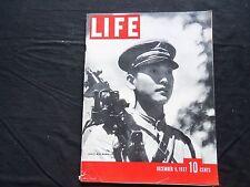 1937 DECEMBER 6 LIFE MAGAZINE - FATALIST WITH MACHINE GUN - L 55