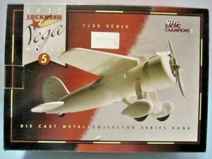 "RACING CHAMPIONS DIECAST 1:32 SCALE "" 1932 LOCKHEED VEGA MODEL #5 BANK "" 00310"