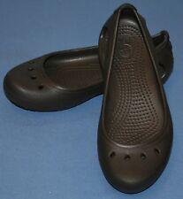 CROCS MARRÓN Mary Jane Estilo Talla 5 mujer Desliza Zapatos Agua Sandalias