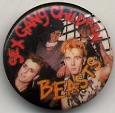 Sex Gang Children 'Beasts' Badge Button