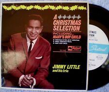 """JIMMY LITTLE-A CHRISTMAS SELECTION-MARY'S BOY CHILD """"RARE OZ EP"""" 45 RPM"""