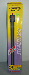 Marineland Stealth 250 ~ 250 Watt Submersible Aquarium Heater ~ Up To 75 Gallons