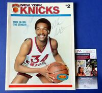 TOM SEAVER & MARV ALBERT SIGNED NY Knicks Magazine ~ JSA KK24940