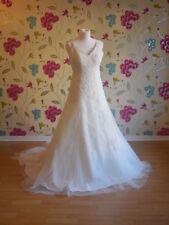 Satin Scoop Neck A-line Regular Wedding Dresses