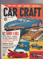 Car Craft Magazine Show Cars National Hobby Show June 1962 FREE US S/H