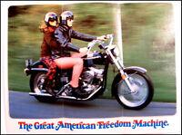 1973 Harley-Davidson ORIGINAL Super Glide FX-1200 Brochure Xlnt NOS Motorcycles