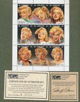 Marilyn Monroe Scott #2055 St Vincent 1994 Nine 9 x $1 Stamp Sheet Mint MNH