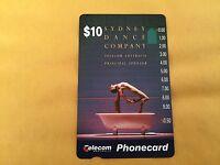 Sydney Dance Company $10 phone card - MINT - Unused *** Australia *** FREE S&H