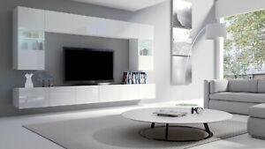 Modern Living Room Set Cupboard TV Unit Cabinet Furniture Wall DAKO SET 1