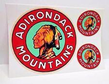 Adirondack Mountains Vintage Style Travel Decals / Vinyl Stickers, Luggage Label