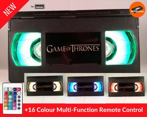 📼 Game of Thrones Retro USB VHS Lamp | LED Light, UK Xmas Gift Present + Remote