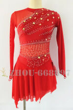 Ice Figure Skating Dress Gymnastics custome Dress Dance Competition Red