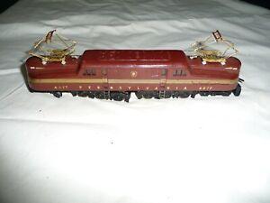 Antique HO Metal PRR Pennsylvania Line GG 1 Electric Locomotive 4877 Tuscon Red