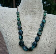 Natural Chinese Turquoise Nugget Heishi Bead  Southwestern Necklace