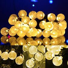 Solar LED Lichterkette 30 LED Warm Weiß Party Garten Dekoration Außenbeleuchtung
