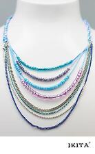 Luxus Statement Kette Halskette IKITA Paris Baumwoll Korall-Perlen Mehere Kette