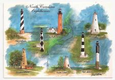 NORTH CAROLINA Postcard Lighthouse Cape Hatteras Lookout Oak Island Postcard