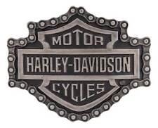 Harley-Davidson Men's Unchained Bar & Shield Antique Belt Buckle HDMBU11128