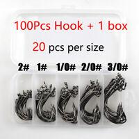 Worm Hook Finesse HD 50pc & 100pc Worm Hooks Size 2# 1# 1/0# 2/0# 3/0# size +box