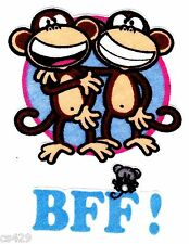 "3"" BOBBY JACK MONKEY TEXT ME BFF  WALL SAFE FABRIC DECAL CHARACTER CUT OUT"