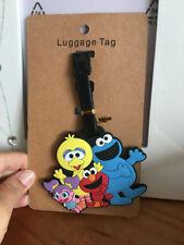 Sesame street elmo cookie monster silica gel luggage tags Baggage Tag Anime tags
