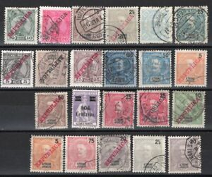 ST. THOMAS S. TOME PORTUGAL TWENTY TWO USED STAMPS